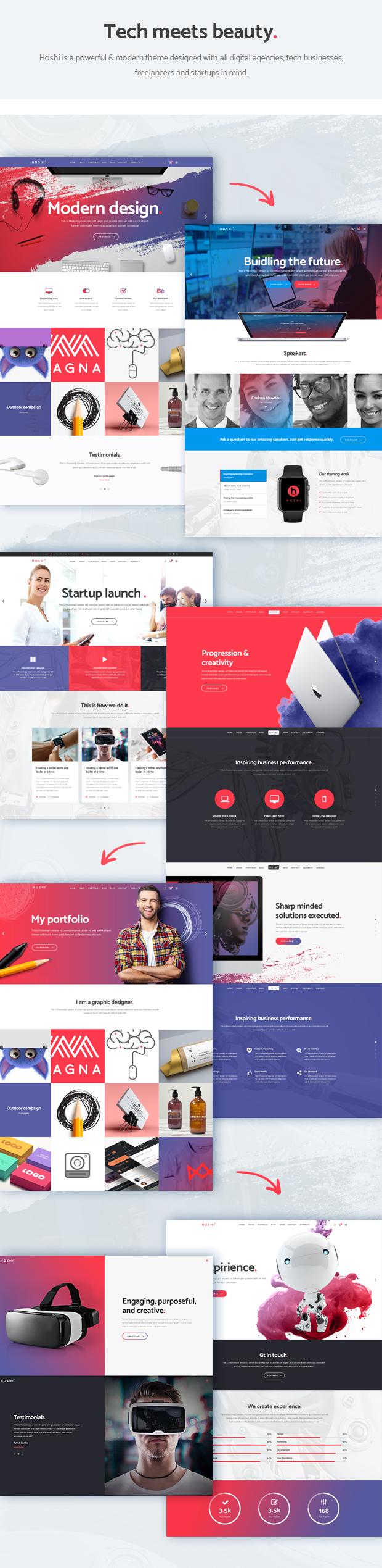 Hoshi - Digital Agency Theme - 1
